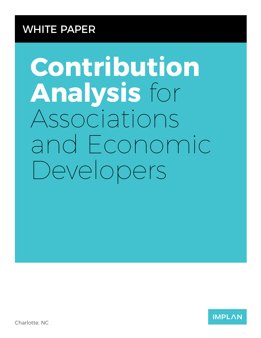 Contribution Analysis for Associations and Economic Developers